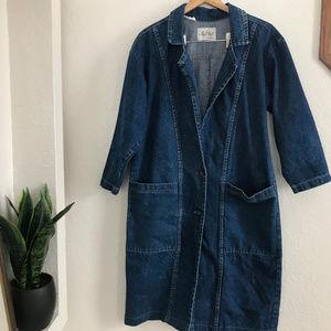 Vintage Nan Elliot Denim Trench Coat